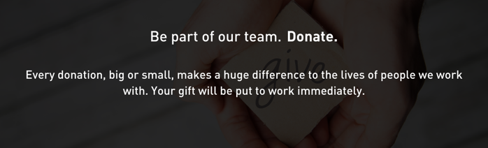 Donate and be Part of the Team