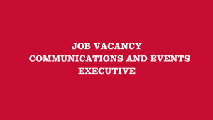 Communications & Events Executive